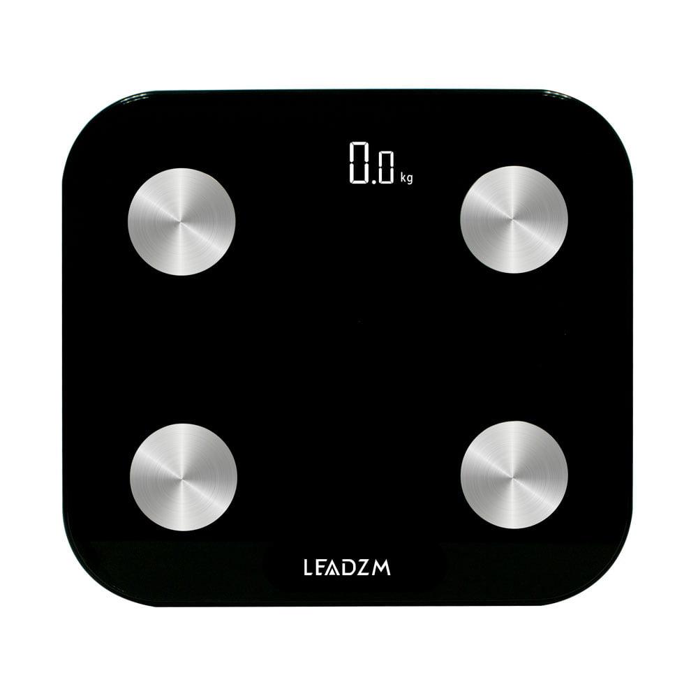 LEADZM F20E-B 180kg/100g Electrode Plate Bluetooth Scale Fat Scale Black