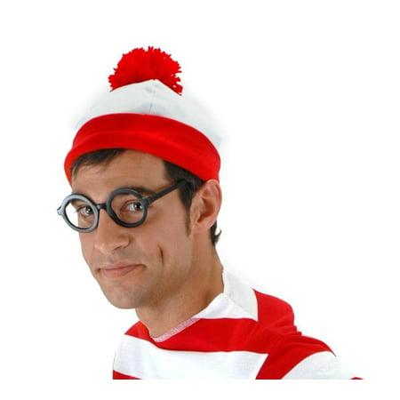 Where's Waldo Costume Beanie Adult One Size