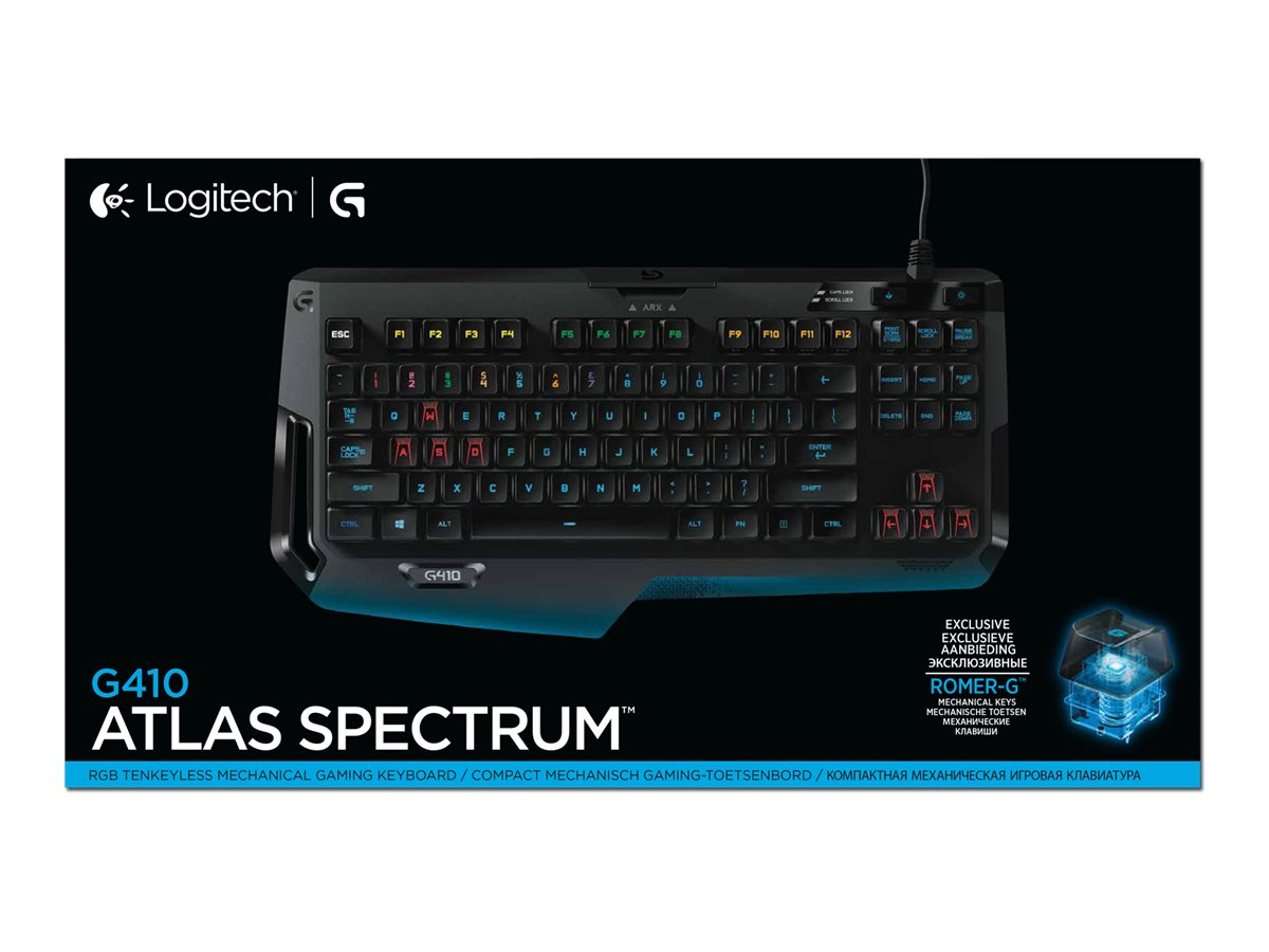 f51cb52e4e7 Logitech G410 Atlas Spectrum RGB Tenkeyless Mechanical Gaming Keyboard  920-007731 - Walmart.com