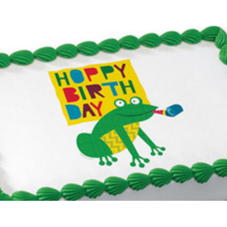 Buddy Frog (Birthday Buddies Frog Edible Extra Large 8 x 10 Cake Decoration Topper)