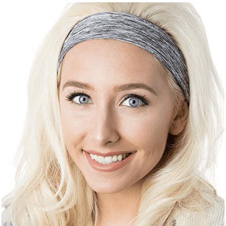 Hipsy Women's Adjustable & Stretchy Xflex Headband Gift Packs (Heather Grey Xflex Band)