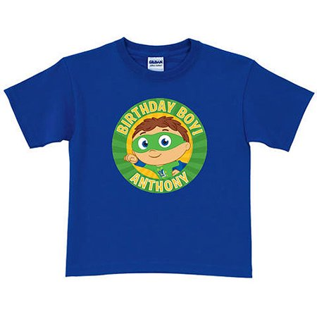 Personalized Super Why! Birthday Royal Blue Toddler Boy T-Shirt