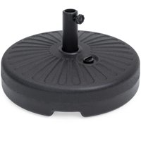 Best Choice Products Plastic Fillable Patio Umbrella Base Stand Pole Holder for Outdoor, Lawn, Garden, Black
