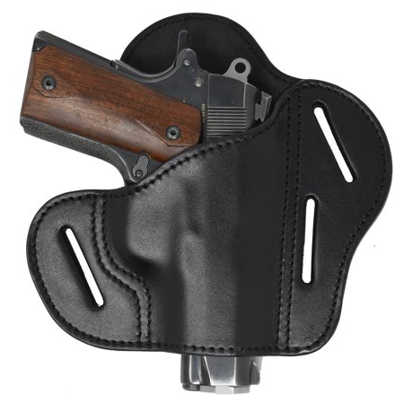 Garrison Grip Black Italian Leather Tactical Holster For All 1911 Commander and Officer
