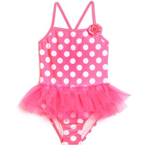 Op Toddler Girl Dynamo Dot Tutu Skirted One-Piece Swimsuit
