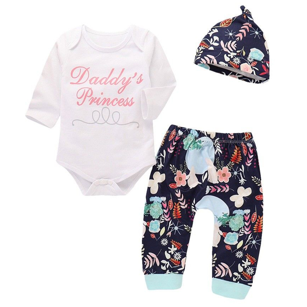 5772a7e078ad Faithtur - Daddy s Princess Clothing Baby Girls Shower Gift Bodysuit ...