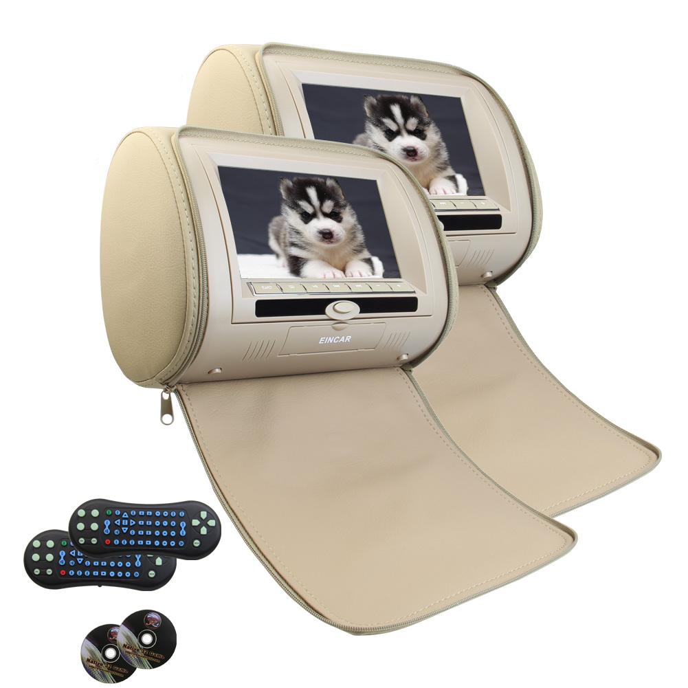 "Eincar Pair of Universal 7"" Auto Monitor Multimedia Pillo..."