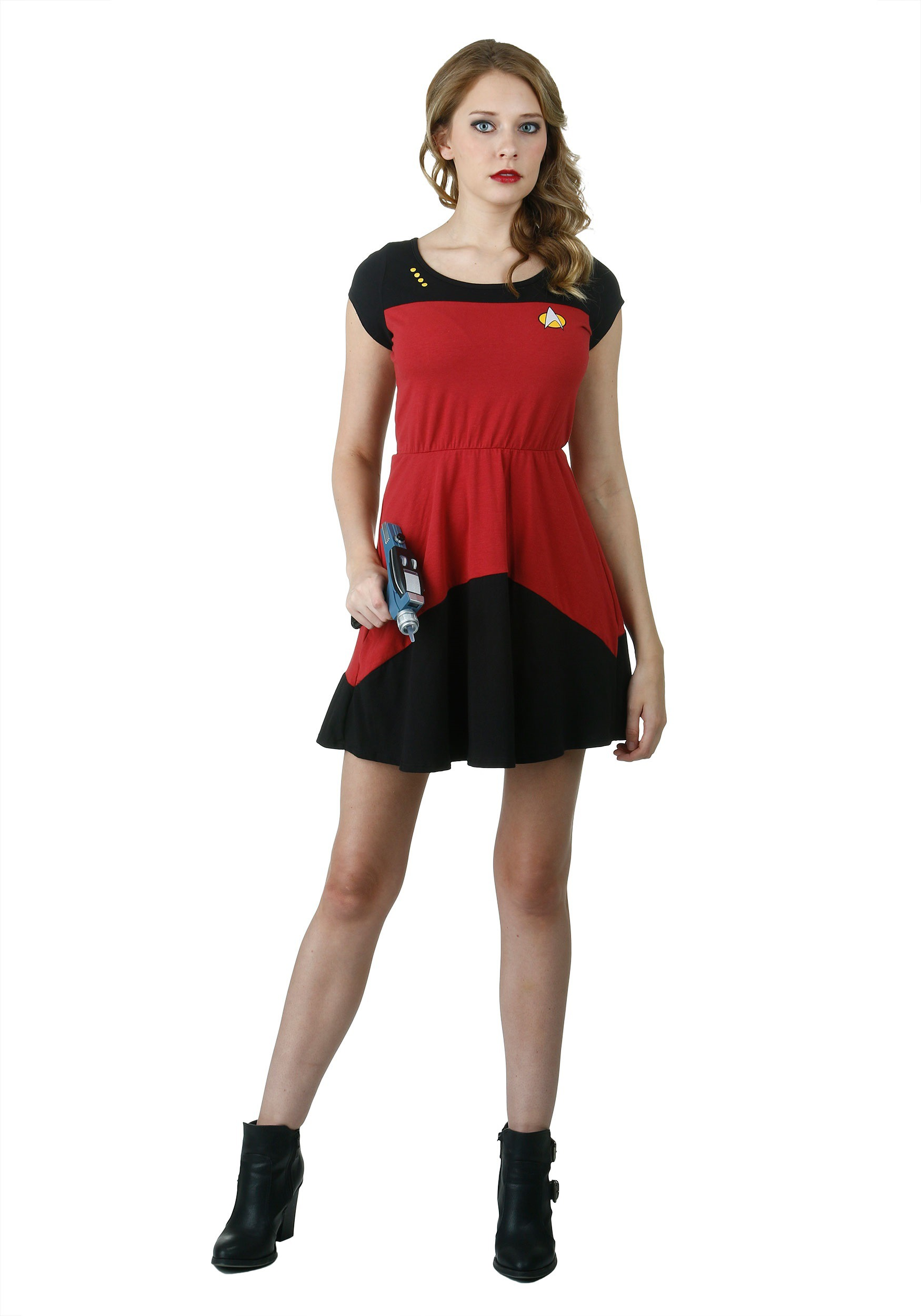 Star Trek Starfleet Red Skater Dress Walmart