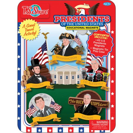 T.S. Shure Presidents of The United States Magnetic Tin Playset