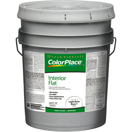 Colorplace Light Base Flat Interior Paint 5 Gallons