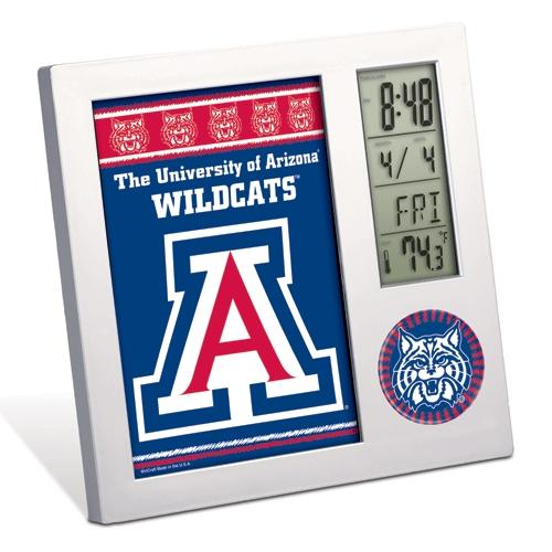 Arizona Wildcats Official NCAA 4 inch x 6 inch  Desk Clock by WinCraft