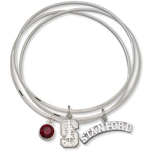 Stanford Cardinal Triple Bangle Bracelets