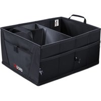 OxGord Auto Trunk Storage Organizer Bin with Pockets - Portable Cargo Carrier Caddy for Car Truck SUV Van, 21 x 15 x 10 Folding Bag