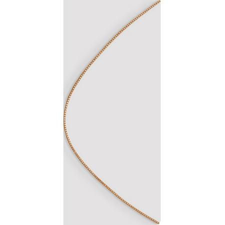 14k Rose Gold Rose 1.0mm Box Link Chain - image 3 of 5