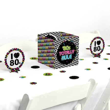 80's Retro - Totally 1980s Party Centerpiece & Table Decoration Kit](80's Themed Birthday Party)