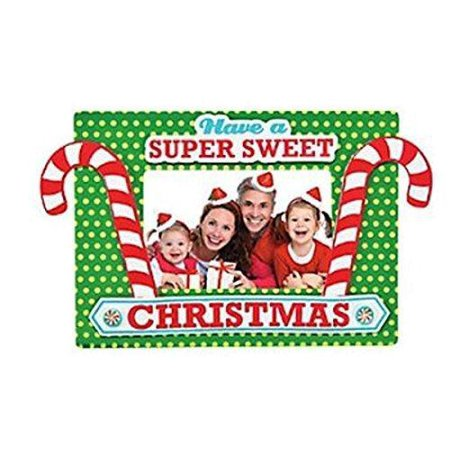 CANDY CANE CHRISTMAS PIC FRAME MAG CK-12 - Craft Kits - 12 Pieces ()