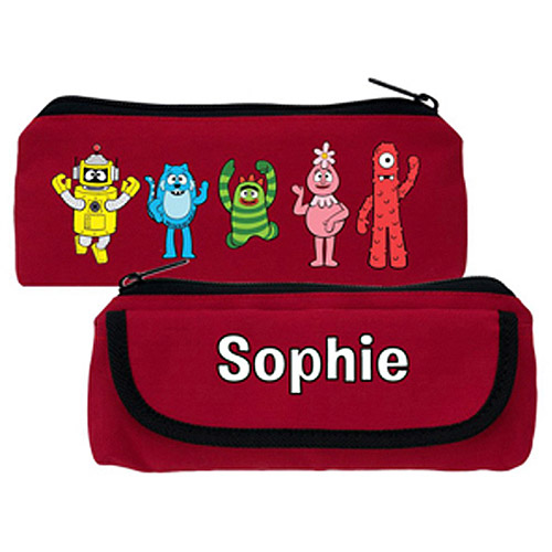 Personalized Yo Gabba Gabba! Friends Red Pencil Case