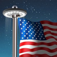 Multi-function Waterproof Solar Powered 26 LED Flagpole Light for Most 15 to 25 Ft Flag Pole ideal camping light