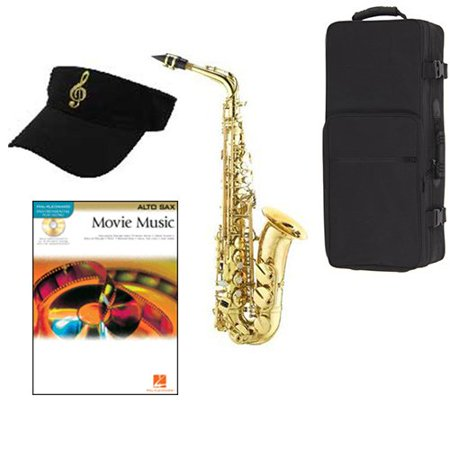 Movie Music Alto Saxophone Pack - Includes Alto Sax w/Case & Accessories, Movie Music Play Along Book ()