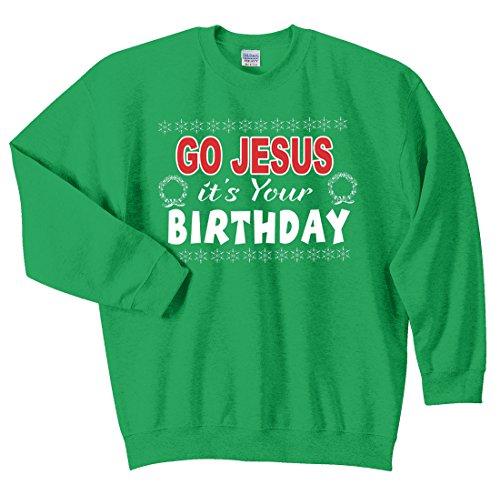 Tstars Go Jesus Its Your Birthday Ugly Christmas Sweater Off Shoulder Sweatshirt