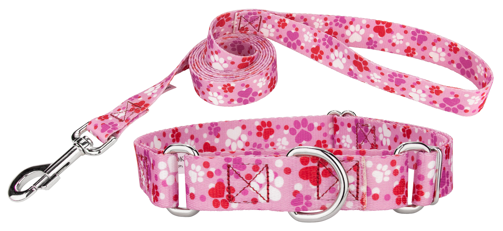 Country Brook Design Puppy Love Martingale Dog Collar & Leash by Country Brook Design