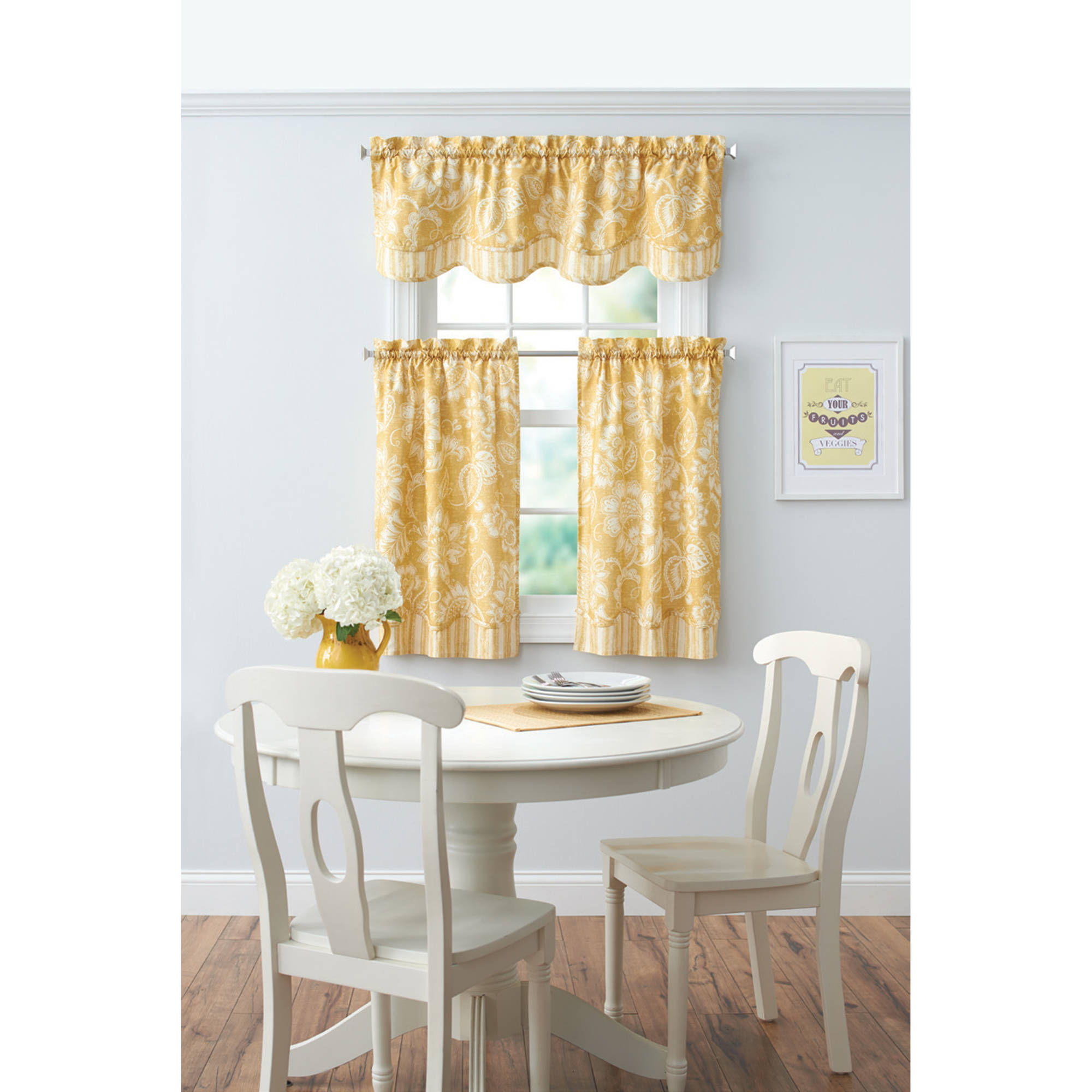 Better Homes and Gardens Botanical Garden Kitchen Tiers or Valance by Richloom Home fashions