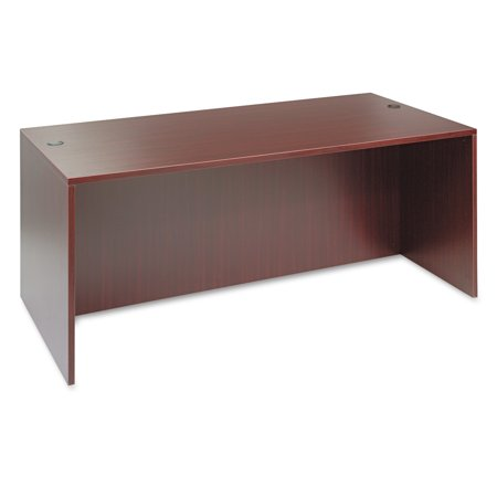Alera Valencia Series Straight Front Desk Shell, 71w x 35.5d x 29.63h, Mahogany -ALEVA217236MY Executive Straight Front Desk