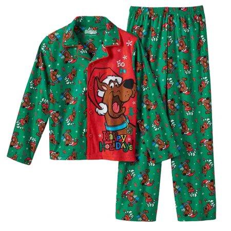 Scooby-Doo - Scooby-Doo Boys Green Flannel Sleepwear ...