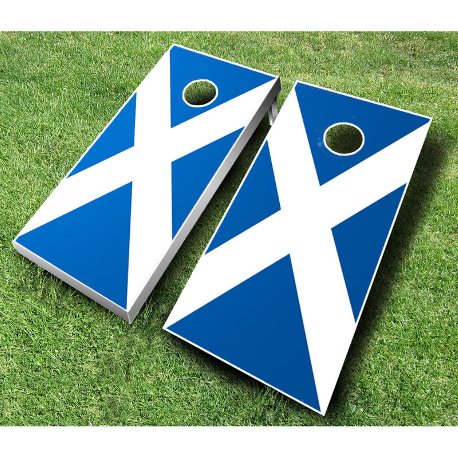Scottish Flag Cornhole Set with Bags by AJJ Cornhole