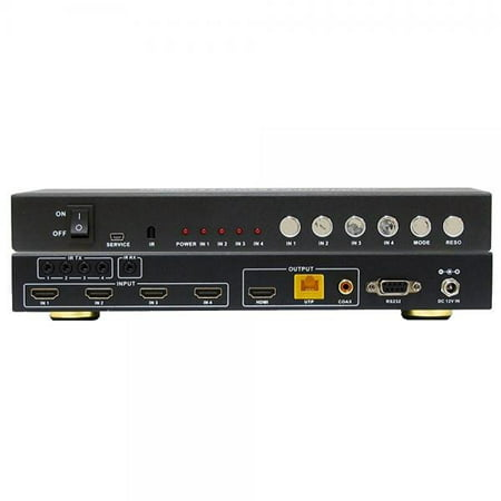 A-NeuVideo ANI-QUAD-MINI HDMI 4x1 Quad Multi-Viewer with Seamless Switcher and Cat6 Extender