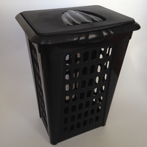 YBM Home Perforated Rectangular Lift Top Laundry Hamper