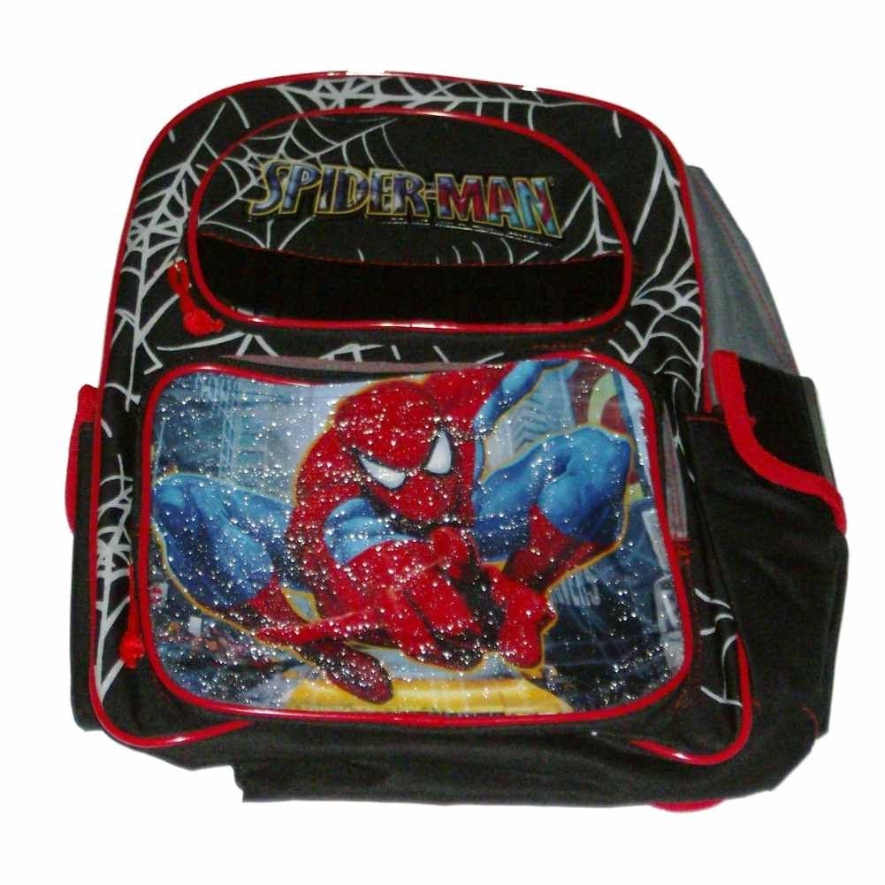Marvel Spiderman Hero Sparkle Backpack Kids Spider-Man Travel School Back Pack