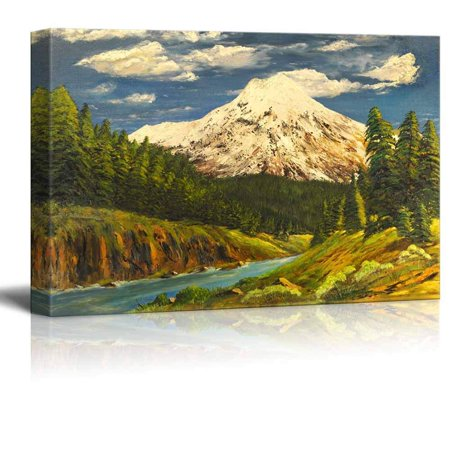 Beautiful Scenery Landscape of Spring Valley in Oil Painting Style - Canvas Art Wall Decor - 32