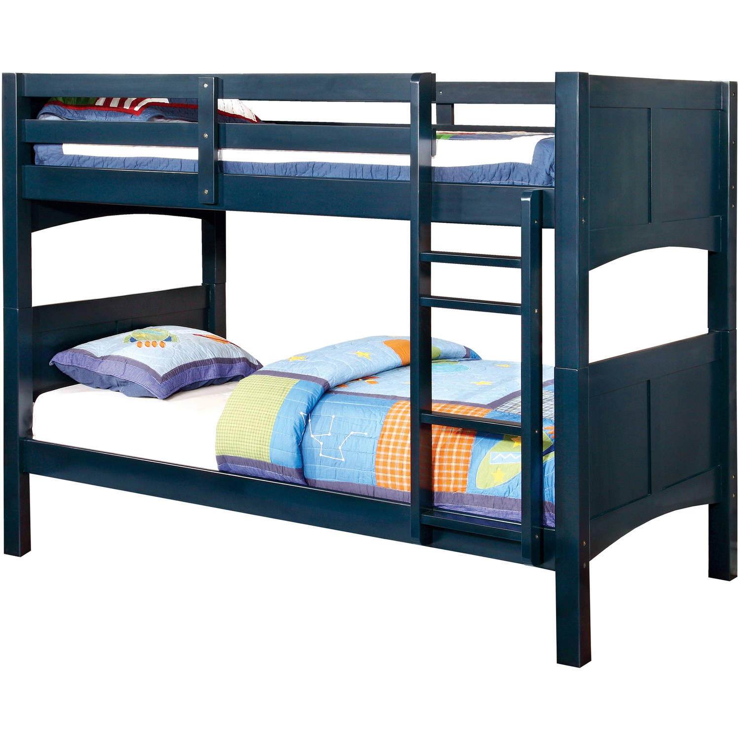 Furniture of America Melissa Twin Over Twin Youth Bunk Bed, Multiple Colors Available