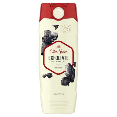 Old Spice Hydrating Body Wash - Old Spice Body Wash for Men Exfoliate with Charcoal Scent Inspired by Nature 16 oz