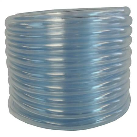 "Flexible Non-Toxic, BPA Free Clear Vinyl Tubing - 1/2"" ID x 3/4"" OD x 50 ft"