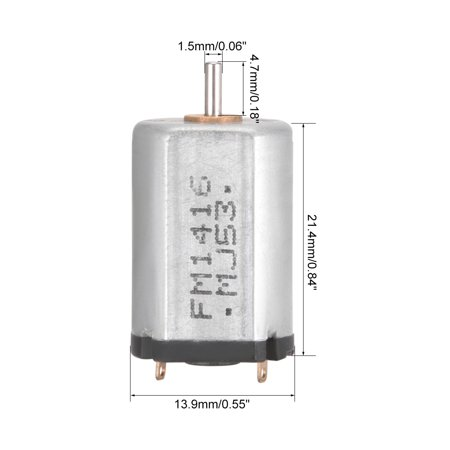 DC Motor 1.5/4.5V 4500/14000RPM 0.05A Electric Motor Round Shaft for Toys DIY - image 2 of 4