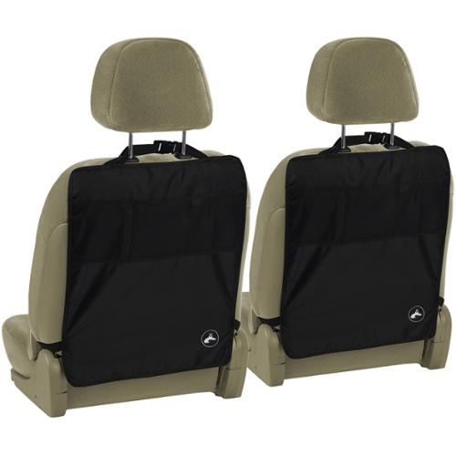 Deluxe Car Seat Cover Kick Mats (Set of 2) With Pockets