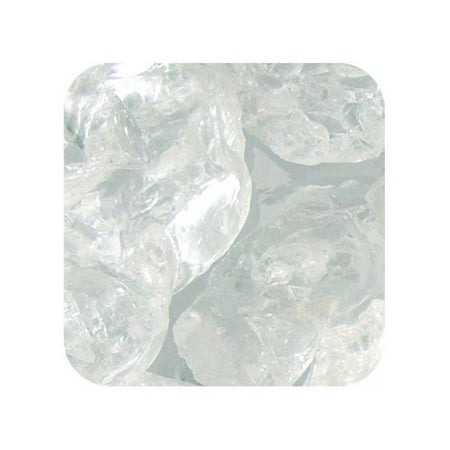 Colored ICE Real Glass Gems, Scatters 1.5 Pint 1.5 - 2 in. - Clear Cubes - Halloween Glass Scatters