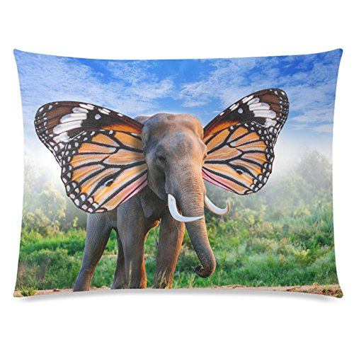 ZKGK Fantasy Elephant with Beautiful Butterfly Wings Home Decor, Animal in the Forest... by ZKGK