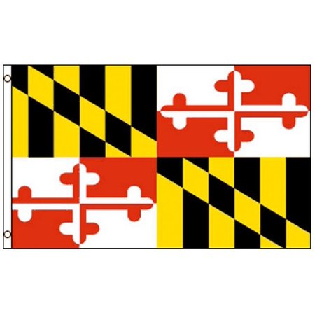 Outdoor Nylon Pennant (3x5 Maryland State Flag MD Banner Pennant NYLON 3 x 5 Foot Indoor)