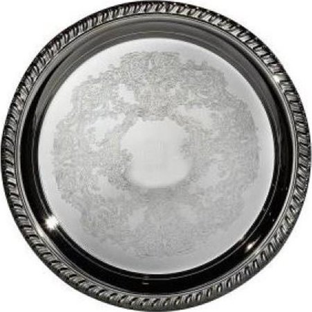 8 in. Round Gadroon Tray - Tray Gadroon Border
