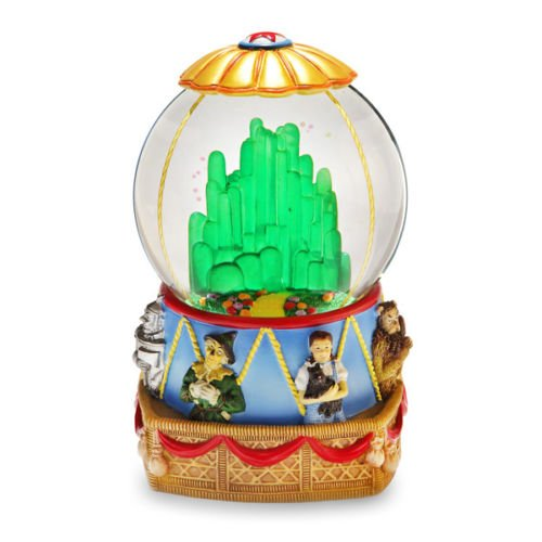 Wizard of Oz Hot Air Balloon 120mm Water Globe SF Music Box Figurine Multi-Colored