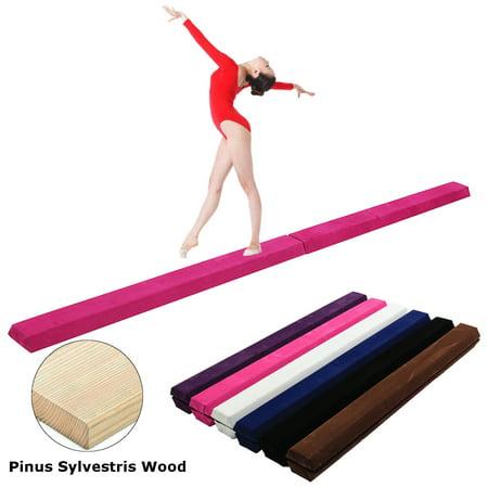 9.5' Foldable Gymnastics Balance Beam, Sectional Floor Gymnastics Bar with Anti-Slip Base, for Junior Kids 9.5' Home Gym Skill Performance thumbnail