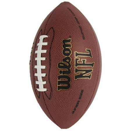 1793 NFL Junior Size Super Grip Leather Football, Junior Size (for ages 9 and up) By Wilson Ship from US