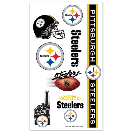 Pittsburgh Steelers Official NFL 7 Pc Sheet Temporary Tattoos by Wincraft