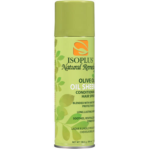 ISOPLUS Natural Remedy Olive Oil Oil Sheen Conditioning Hair Spray, 7 oz