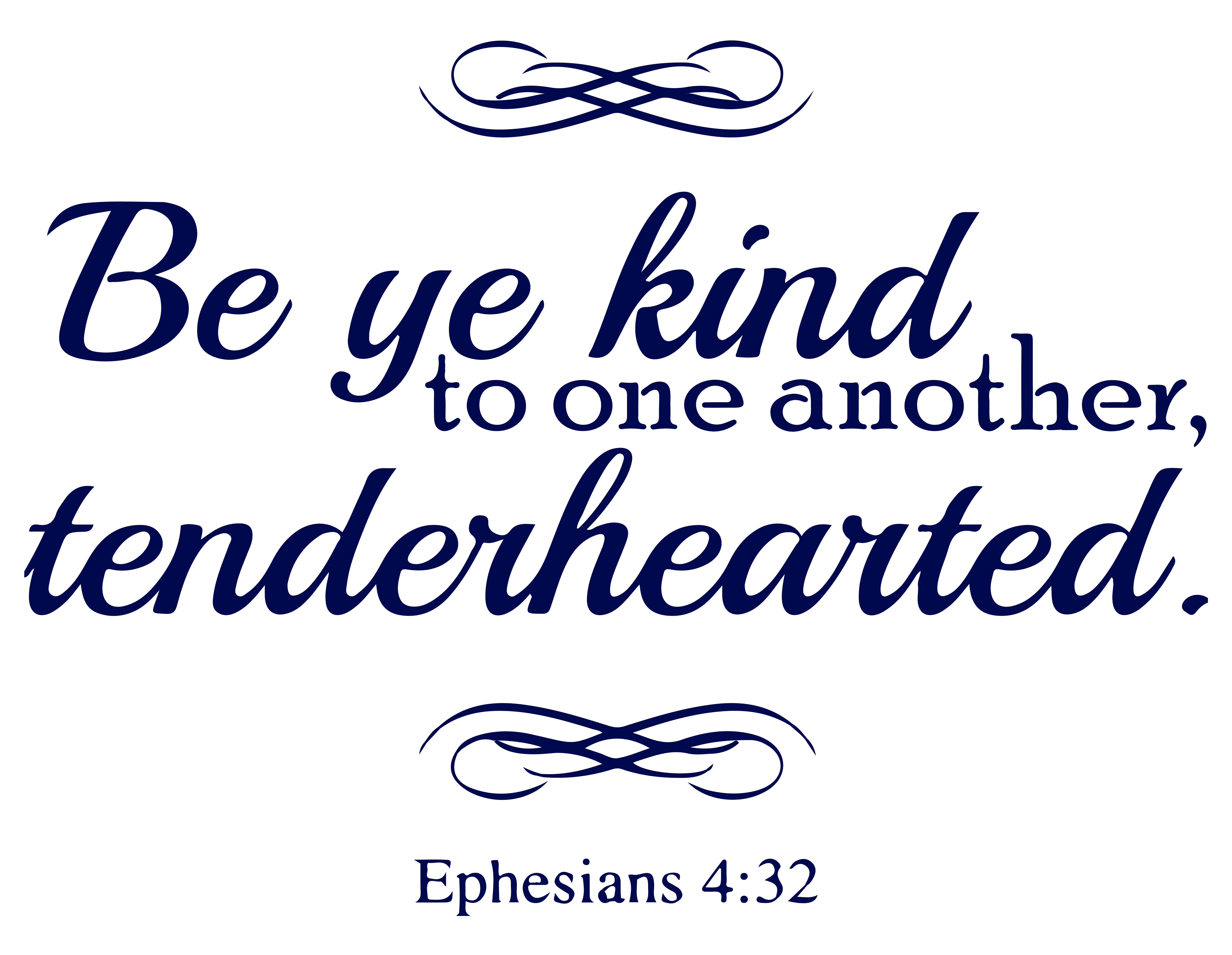Ephesians 4 32 Be Ye Kind To One Another Tendera Vinyl Decal Sticker Quote Small Steel Blue Walmart Com Walmart Com