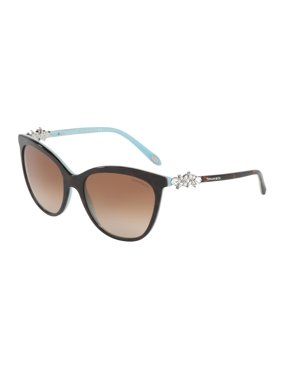 0de0421454bf Product Image Tiffany 0TF4131BF Full Rim Butterfly Womens Sunglasses - Size  56 (Brown Gradient)
