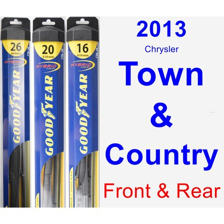 2013 Chrysler Town & Country Wiper Blade Set/Kit (Front & Rear) (3 Blades) - (Chrysler Town And Country Plug In Hybrid)